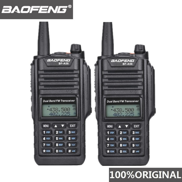 2pcs Original Baofeng IP67 BF A58 Marine Waterproof Walkie Talkie Dual Band Woki Toki Two Way Radio Amador UV 9R Hf Transceiver