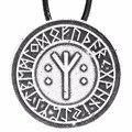 1 pcs 4012 Algiz Vida Runa Runa Talismã Amuleto Colares Viking Runas Banimento & Charme Proteção Da Oposição
