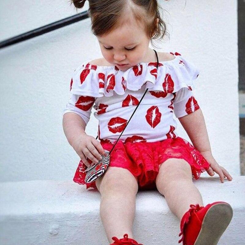 Muchachas encantadoras Del Verano T Shirt Labios Imprimir Shirts Moda Ropa Traje