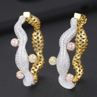 charms silver 925 original Full Micro Cubic Zirconia boucle d'oreille femme 2019 Handmade Exclusive Hoop Earring Accessories