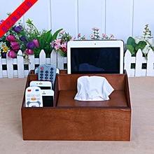 Star Arts edge fashion solid wooden tray pumping pumping paper tissue box C box Creative Desktop remote control storage box