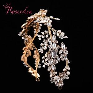 Image 1 - Bandeau de mariée en cristal de luxe avec strass, accessoires pour cheveux, diadèmes de mariée, bandeau élégant fait à la main, RE731