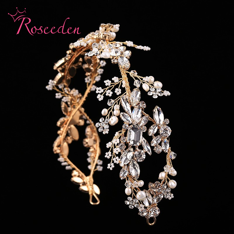 Luxury Crystal Bridal Headpiece Wedding Rhinestone Hair Accessories Bridal tiaras Elegent handmade Headbands RE731-in Hair Jewelry from Jewelry & Accessories on Aliexpress.com | Alibaba Group