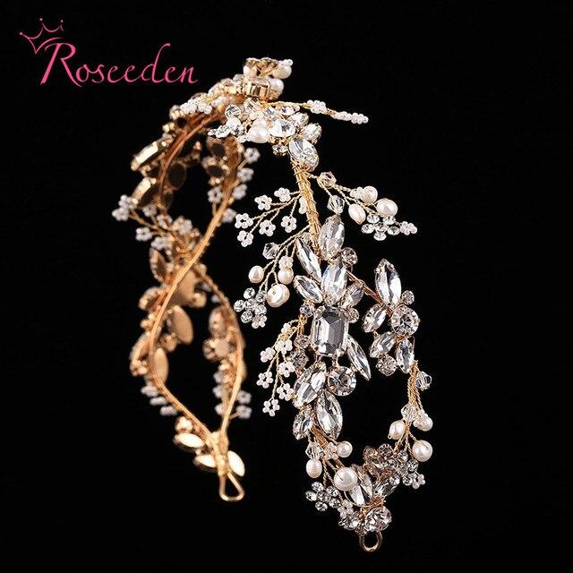 Luxury Crystal Bridal Headpiece Wedding Rhinestone Hair Accessories Bridal tiaras Elegent handmade Headbands RE731