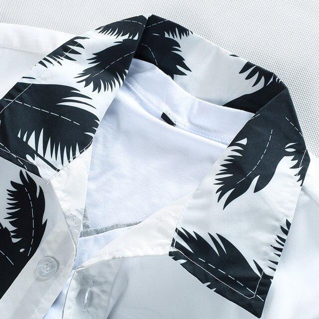 Mens Hawaiian Shirt Male Casual camisa masculina  Printed Beach Shirts Short Sleeve brand clothing Free Shipping Asian Size 5XL 3