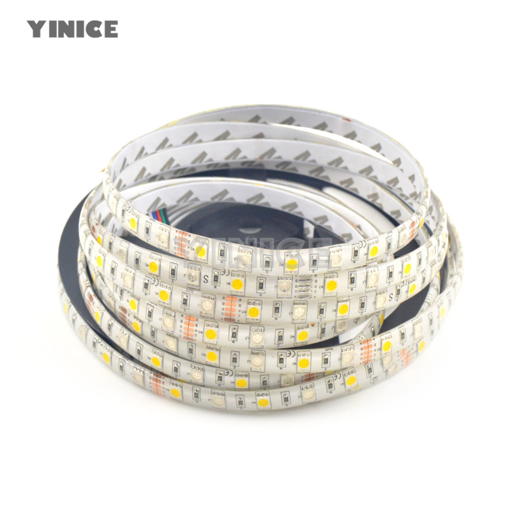 5M RGB RGBW Led Strip Light Diode SMD 5050 DC12V 60Leds/M 300Leds waterproof Fiexble Light LED Ribbon Tape Home Decoration Lamp gbkof smd rgb led strip light 5050 10m 5m 60leds m led tape waterproof diode ribbon bluetooth controller dc12v power adapter set