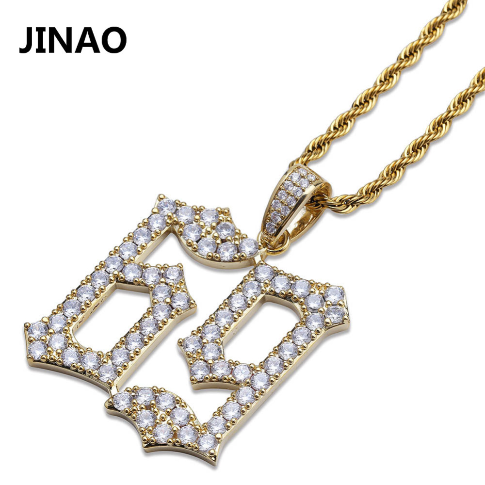 JINAO Hip Hop Fashion 69 Saw Necklace Cubic Zircon Gold Silver Saw Horror Movie Theme Digit Number Pendant Necklace Iced Out new hip hop fashion 69 saw clown necklace cubic zircon gold silver saw horror movie theme pendant necklace iced out micro pave