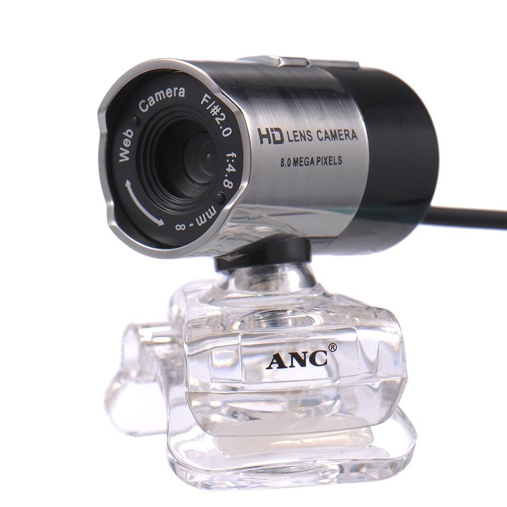 ANC HD веб-Камера Ночное видение веб-камера Тетрадь портативных ПК компьютер USB Бесплатная драйвер Камера С микрофоном мини веб-Камера