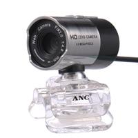 ANC Web Camera HD de Visão Noturna Webcam Em Notebook Laptop PC Livre Driver Da Câmera USB do computador Com Microfone Mini Web Cam Webcamera