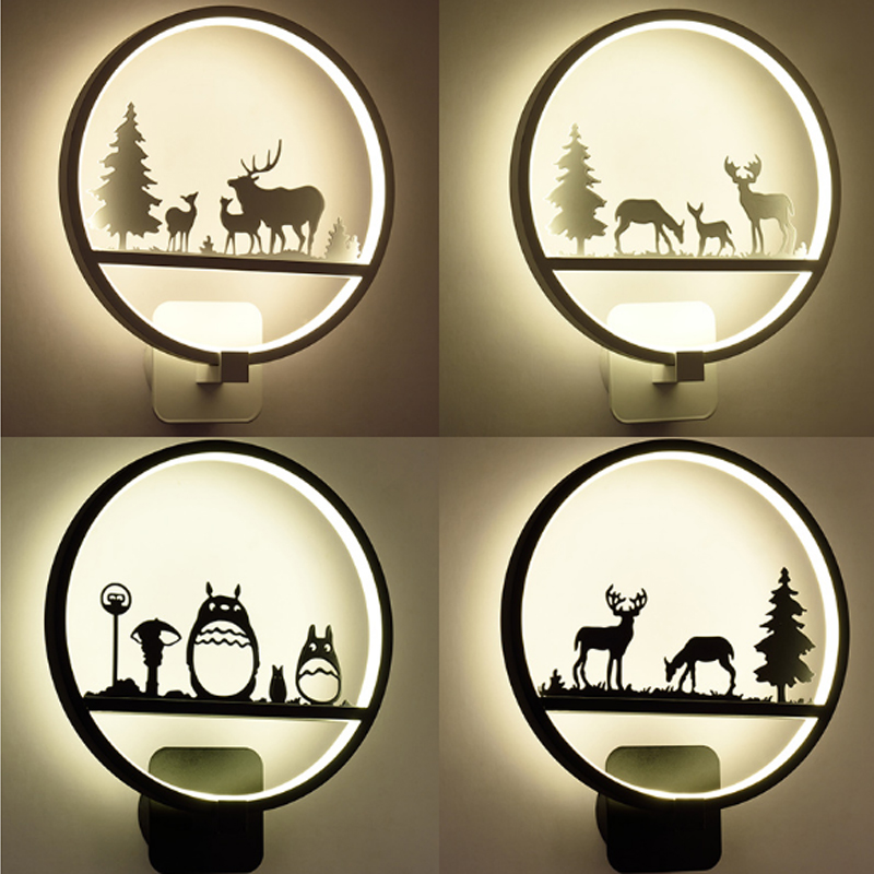 Lamp Bedroom Bedside LED Wall Lamp Aisle Stairs LED Lighting Children Room Creative Lamps Wall Sconces Living Room Wall Light wall lamp brief circle stair lamp bed lighting fashion led acrylic wall lamps children s room wall lamp