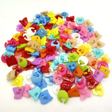 HANLV 80pcs/lot 13mm Letter Symbols Plastic Buttons Apparel Sewing Accessories Garment Supplies DIY Craft B105
