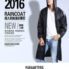 New Top Quality Polyester Trench Raincoat Men Long Walking Even cap Raincoat Fashion Outdoor Travel Raiincoat