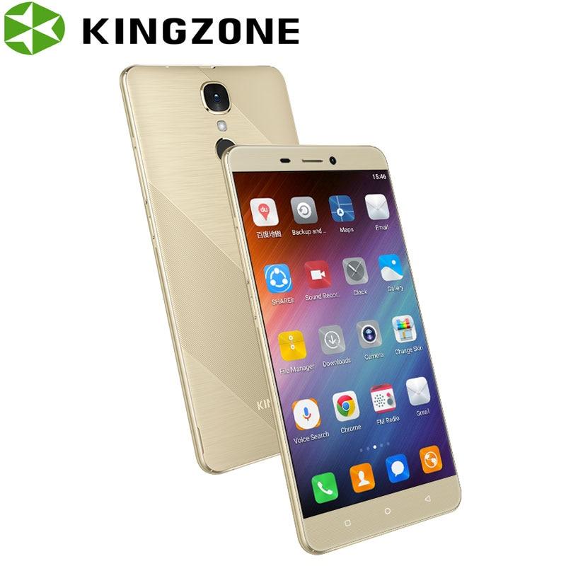 Kingzone 5,5 Zoll Smartphone Fingerabdruck 1 GB RAM 8 GB ROM Quad Core 8.0MP 3000 mAh Telefon S20 3G entsperrt Stoßfest Handy