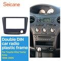 Автомобильное покрытие для стереосистемы Seicane  2 Din  набор для обрезки пластины для Toyota Vitz Yaris  echo  установка рамы  CD  DVD панель