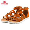 FLAMINGO famous brand 2016 New Arrival Spring & Summer Kids Fashion High Quality sandals for girls 61-CS142/61-CS143