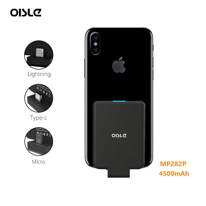 Mini Power Bank Case Ultra thin Portable External Backup For iPhone X XS Samsung S8 Xiaomi 8 Huawei P20 Battery Charger Case