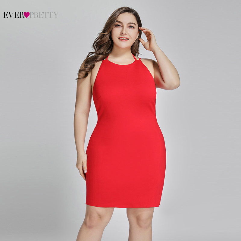 Plus Size   Cocktail     Dresses   Ever-Pretty Sexy Short   Dress   Off Shoulder Backless Spaghetti Strap Bodycon   Cocktail     Dress   EP05873