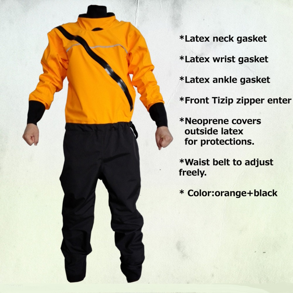 2018 front zipper dry suit,latex neck and wrist /ankle gasket  kayak,whitewater,rafting,sailing,boating windsurfing