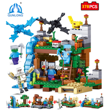 Qunlong 4 in 1 MY WORLD Action Toy Figures Building Blocks Compatible Legos Minecraft City Educational