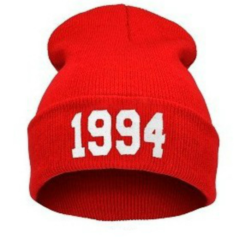 Europe and The United States Men and Women's 1994 Pattern Knitted Wool Acrylic Beanies Hat Outerdoor Hip-Hop Ski Cap RX061 custom signage neon signs pizza beer real glass tube bar pub signboard display decorate store shop light sign 17 14
