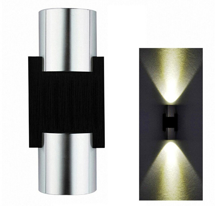 High Quality Design LED Wall Lamps 2 2W Aluminum lamp AC 85V 265V mirror light wall mount lights for living room stair bathroom in LED Indoor Wall Lamps from Lights Lighting