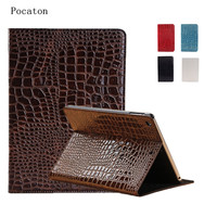 Pocaton Fashion High Quality Slim Crocodile Leather Case For IPad Mini 1 2 3 Smart Cover