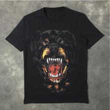 New High 2017 Men Fashion T Shirts Rottweiler Print T-Shirt Hip Hop Skateboard Street Cotton T-Shirts Tee #78
