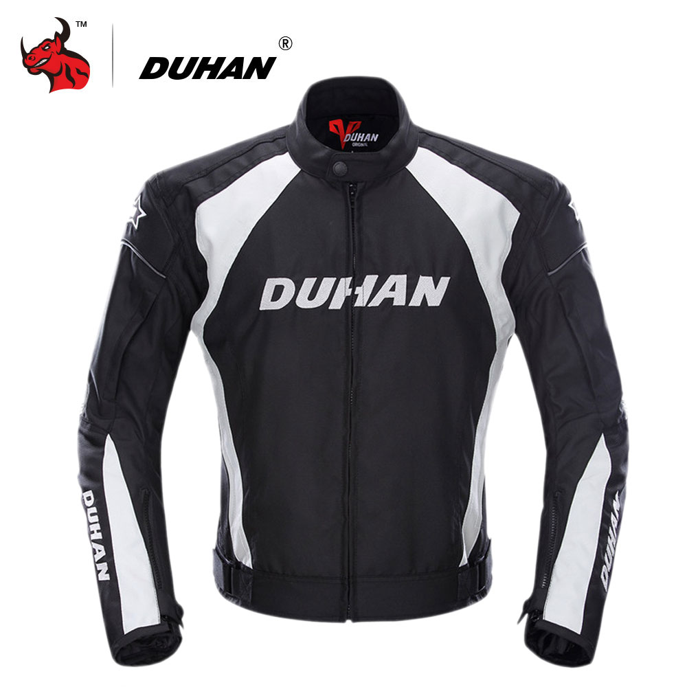 DUHAN Motorcycle Jacket Men Windproof Moto Motocross Jacket Clothing Protective Gear With Five Protector Guards Motorbike
