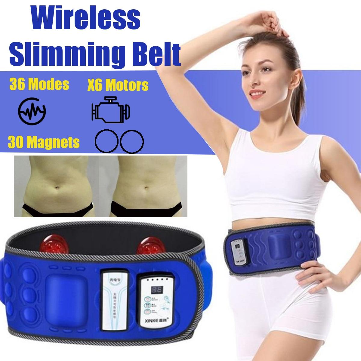 Wärme Magnet Drahtlose Elektrische Abnehmen Gürtel Verlieren Gewicht Fitness Massage Sway Vibration Bauch Bauch Muskel Taille Stimulator
