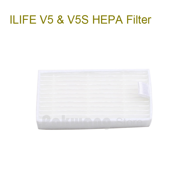 Original ILIFE V5 V5S HEPA  Filter 1 pc, ILIFE Robot Vacuum Cleaner  Spare Parts from factory original ilife v7 primary filter 1 pc and efficient hepa filter 1 pc of robot vacuum cleaner parts from factory