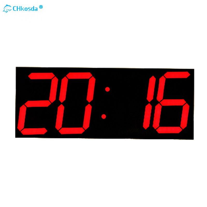 CHKOSDA Mur Numérique Horloge Nixie Minuterie Chronomètre Horloge Alarme Hygromètre Stations Météorologiques Horloge-À-Chambre Décor À La Maison Horloge murale