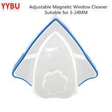 YYBU 3-24MM Adjustable Magnetic Window Cleaner Brush Home Window Cleaning Glass Wiper Brush Magnetic Brush for Washing Window