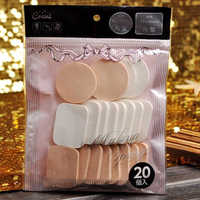 20Pcs/Set Mix Color Makeup Air  Sponge Puff Pro Dry Wet Dual Use Concealer Foundation Flawless Smooth Powder Cosmetic Kit