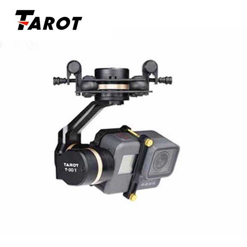 Haute Qualité Tarot TL3T05 pour Gopro 3DIV Métal 3-Axe Brushless Cardan PTZ pour Gopro Hero 5 pour FPV système Action Sport Caméra