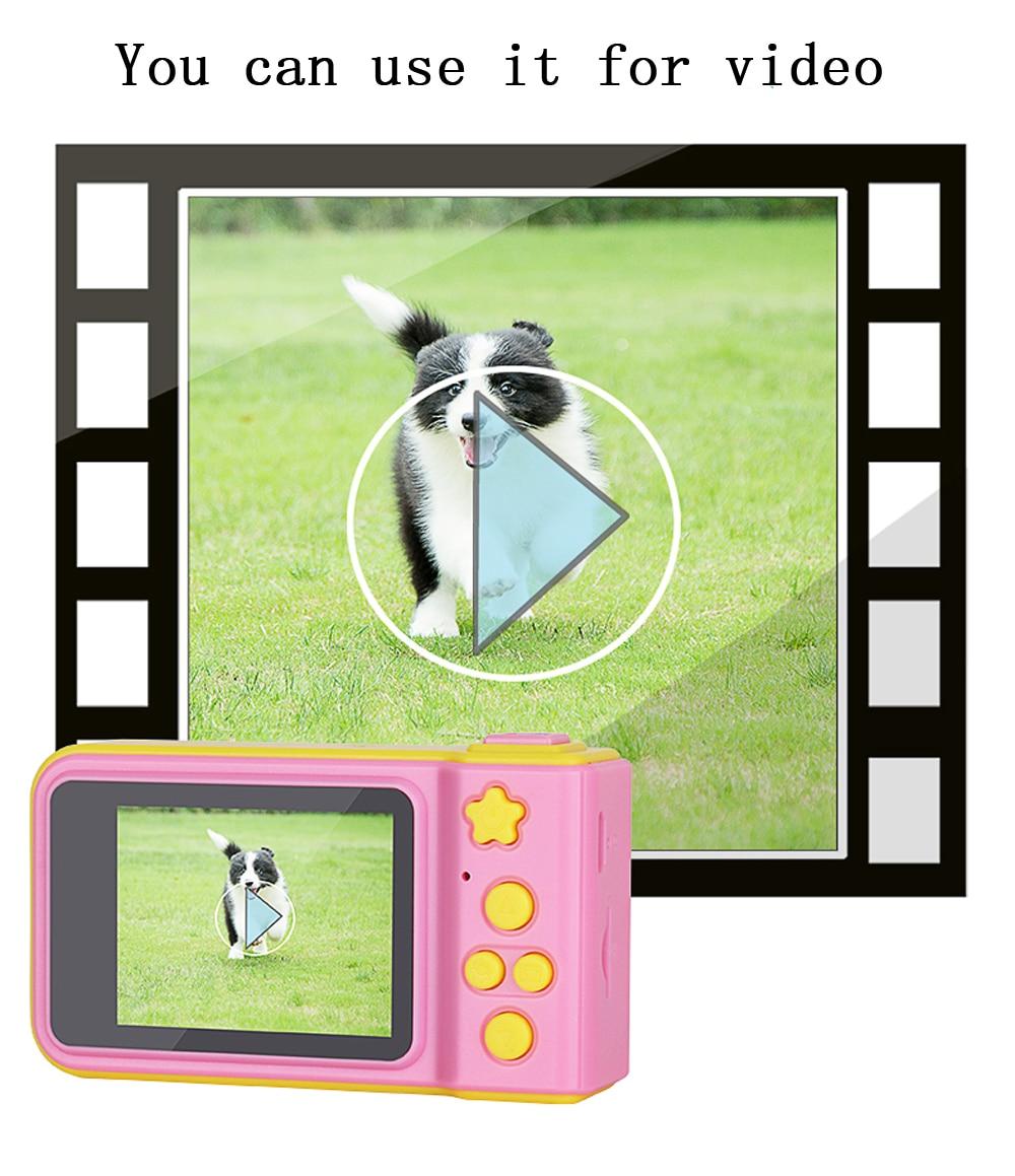 HTB1W44RXf1G3KVjSZFkq6yK4XXaA KOMERY Children's Digital Camera 2 Inch Screen Display Cartoon Cute Camera Birthday Gift 1080P Toddler Toys Video Camera For Ki