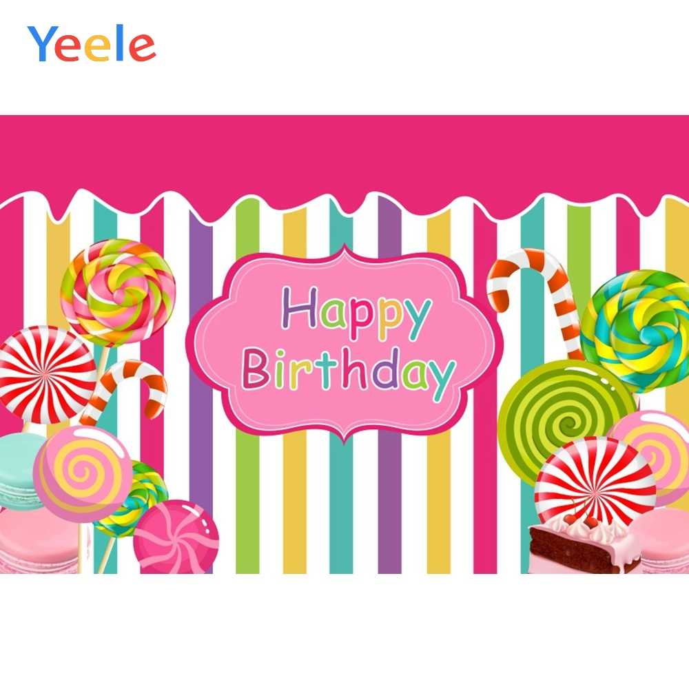Yeele Pink Love Heart Lollipop Candyland Baby Room Photography Backgrounds Customized Photographic Backdrops for Photo Studio