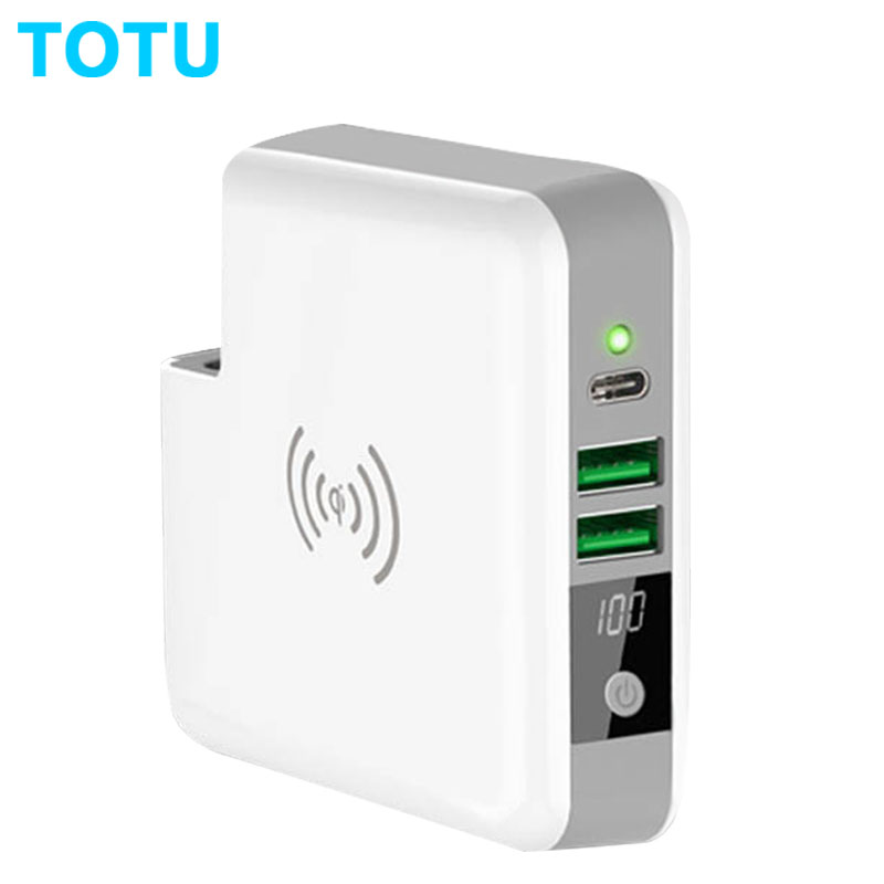 6700mah Qi Wireless Charger Powerbank Portable Type C Travel Charger 5V 3A 15W USB Wall Charger