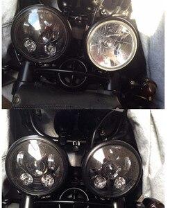 Image 5 - زوج (2 قطعة) انتصار سرعة/الشارع الثلاثي ، T509 ، 955 ، صاروخ 3 ، سرعة 4 ، ل هارلي LED المصابيح الأمامية