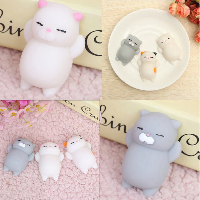 Squishy Cat Accessory : Mini Squishy Cat Seal Rabbit Cute Phone Straps Slow Rising Soft Press Squeeze Kawaii Bread Cake ...
