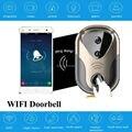 2016 HD 720 P Wifi de vídeo puerta timbre del teléfono de puerta de intercomunicación Inalámbrica Soporte IOS Android para el Teléfono Inteligente de Visión Nocturna timbre de la puerta