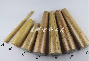 Pulsera de madera, barra de mandril, pulsera de tamaño, herramienta de Envoltura de cable, forma redonda/ovalada
