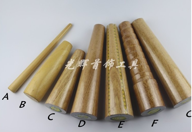 Wooden Bracelet Mandrel Stick Sizing Bangle Mandrel Wire Wrapping Tool Round/Oval Shape