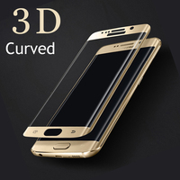 New Full Cover Curved 3D Tempered Glass For Samsung Galaxy S7 edge Premium Tempered Glass Screen Protector