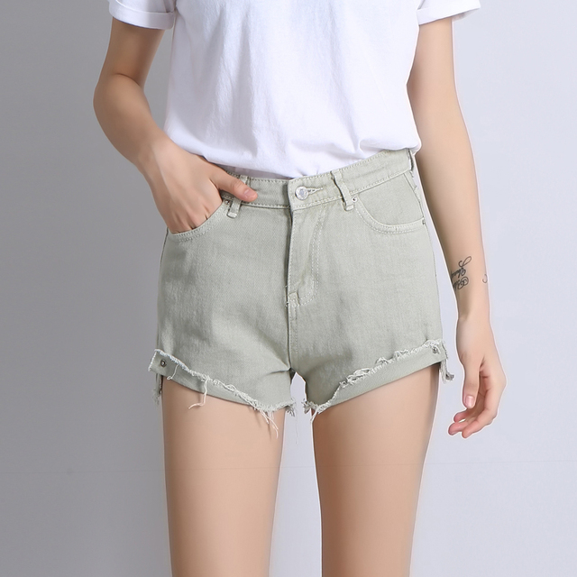 6c323e92c7 Summer High Waist Booty Shorts F or Women Street Style Ripped Short Shorts  PIPA Store