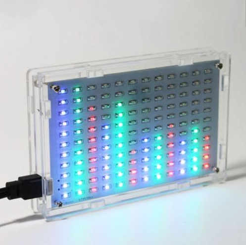 HAILANGNIAO Nova Música Display LED Medidor de Nível de Áudio de Alta Fidelidade do Amplificador MP3 PC Kits Analisador de Espectro