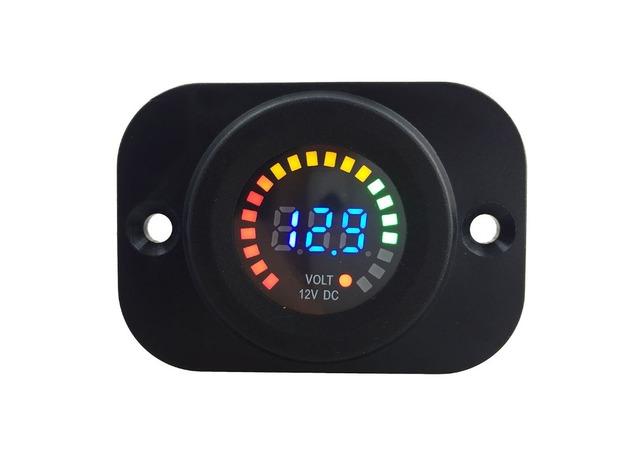 IZTOSS DC 12 V Coche de La Motocicleta Impermeable Azul LED Digital Display panel Voltímetro Medidor de Voltaje con kit de instalación