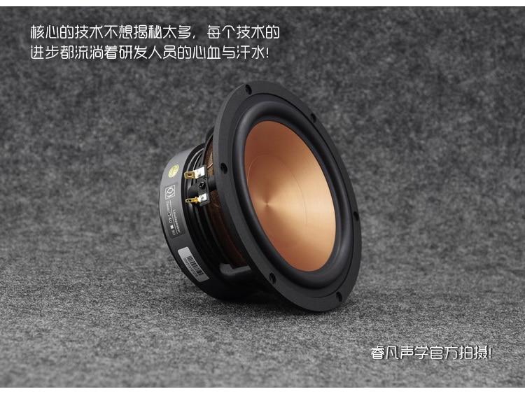 2PCS AIRS FR 65YL M 6.5inch Midrange Speaker Driver Unit Aluminum Ceramic Mixed Cone Casting Aluminum Frame 4/8ohm 100W D175mm|Speaker Accessories| |  - title=
