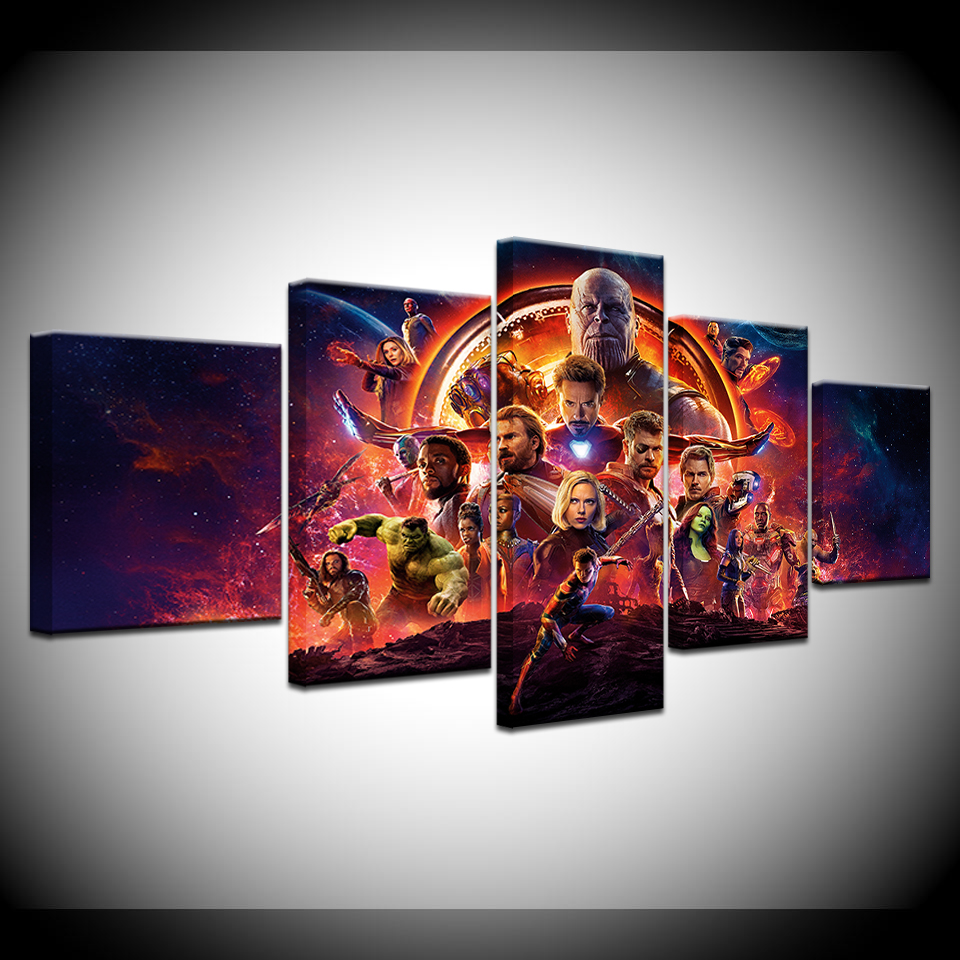 2018 Hot Movie Marvel Avengers Infinity War Poster Canvas