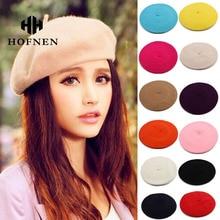 Women Artist Beret Autumn Winter Flat Cap Vintage Solid Colors Soft Felt Wool Beanie Hat  Ladies Fashion Classic Berets Hat