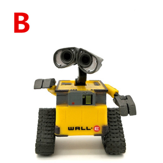 2018 New arrival Wall-E Robot Wall E & EVE PVC Action Figure Collection Model Toys Dolls  WITH BOX 3